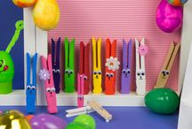 Rainbow Easter Party / Funky and colourful ideas for your Easter parties and events.