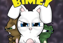 Bimey / Bimey is a book written about a comfortably lazy bunny, who is startled by an evil mist invading his forest home. With the help of his friends, will he be able to fight, and restore his beloved forest? Or will the mist destroy everything he loves?