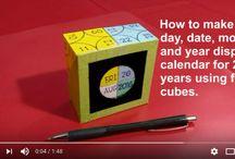 Gift calendar ideas / How to make (DIY) daily display desk calendar using cube blocks made of cardsheet https://www.youtube.com/channel/UC_xMJ7EF_Vn7pDSShG1xEEA