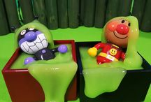 アンパンマン アニメ❤おもちゃ スライムのお風呂にバイキンマンご機嫌♪Anpanman toys
