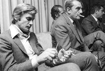 Helmut Berger and Luchino Visconti