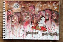Elena Martynova / Beautiful art from Elena Martynova using products from Lindys