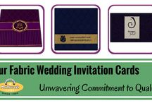 FABRIC WEDDING INVITATIONS CARDS /  Fabric Invitation Collection : That Adds Dimension And Affordability To Your Bridal Stationery