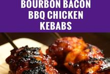 Bourbon Bacon Chicken Scewers