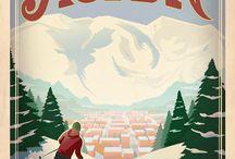 Vintage Skiing Posters / Skiing