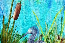 heron quilt