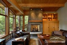 Spectacular Timber Frame interior rooms / take a stroll through the living spaces of some of the most beautiful homes in North America!