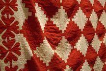 Fabrics, threads and needles