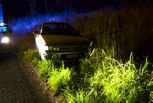 car crash pole