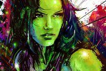 She-Hulk / Green and Red super heroine.