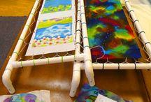 Zijdeschilderen frame