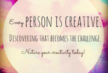 Creativity / Quotes, ideas, books etc. on getting your creativity flowing