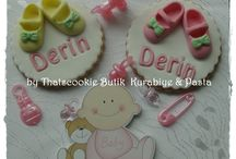 Bebek Kurabiyeleri / Baby shower cookies www.thatscookie.com