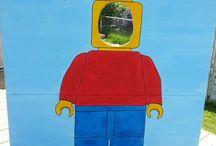 Arons 4th birthday, Lego theme