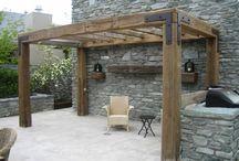 Decks & garden & pool & Balkon