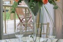 Martini glass centerpiece