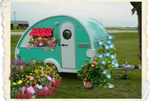 Travel Bugs / My mother got me hooked on these little vintage campers with their eclectic fun decor and sense of adventure. I love to travel and I can easily see myself running around the country with one of these all the while writing and taking photos for my newest books. Ahhh!