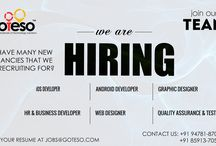 Jobs / We are hiring for various designations. Please send us your resume at jobs@goteso.com