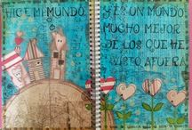 Art in the life / Mis trabajos de Mixed Media y Art Journal