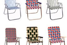 Aluminum Framed Webbing Lawn Chairs / Looking for those vintage lawn and beach chairs, well we have them! We make them brand new right here, Made in the USA. The frames are lightweight, rust free aluminum! The plastic webbing comes in all different patterns and colors. We have many different size chairs. In the yard or at the beach, we have a chair for you!