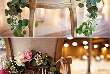Couple's wedding chair decoration