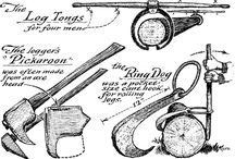 Old Loggers and Loggers' tools.