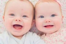 cute baby twins girl boy