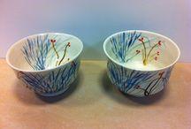 Bols porcelaine / Bols décorés extérieur et intérieur
