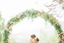 Wedding floral arches and back drop