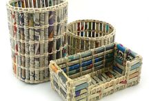 újrahasznosított újság