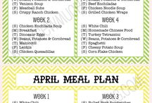 Meal planners...handy!