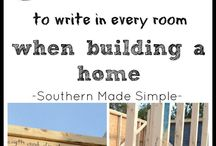 When building a home
