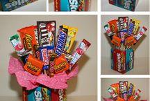 boîte à faire avec des bonbon debant