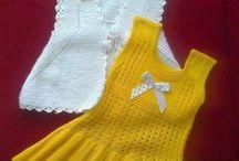 Bebek örgü elbiseleri