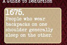 How to be Sherlock