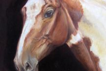 Equestrian Art / Painted horse by artist