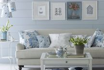 Home decor--Blue and White