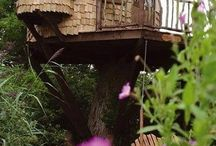Tree House Ideas / Having a tree house has been a dream of mine since I was a child. This is a selection of great tree house ideas from a variety of sources perfect for children and grown ups