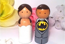 Wedding cake topper and cutlry