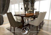 Özel Tasarım İle Hazırlanan Yemek Odası Takımları (Dining Room Designed By Our Interior Designer) / Çizgisel Nüansların Yansımasını Hayallerinizle Bütünleyen İmhotep Mobilya, Özel İç Mimar Desteği İle Sizleri Showroomuna Davet Ediyor..