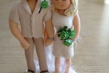 Personalised Bride and Groom Figures / Handmade personalised bride and groom figures.  Truly Scrumptious  The Wedding & Events Company www.truly-scrumptious-events.co.uk