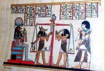 PAPIROS EGIPCIOS / Papiros egipcios con certificado de origen y pintados manualmente en colores naturales