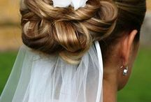hair only for bride, and bridesmaid