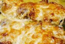 mustáros -tejfölös csirkecomb