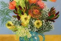 sanatsal çiçekler