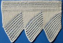 The Edge. / Knitted or crocheted edgings to adorn shawls