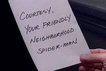 """•ch• Peter Parker / """"Courtesy, your friendly neightborhood,                                                 Spider-man."""""""