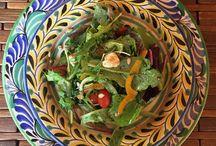 Gorky plates / Salad in a Gorky pottery plate