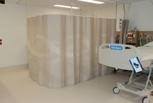Sonata at the Peter MacCallum Cancer Centre / We were recently selected to design and supply the bedscreens and bedcovers for this new state of the art facility in Melbourne. The fabric was designed to echo the architectural theme of the building
