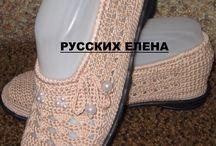 zapatos y crochet